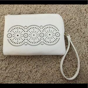 Handbags - White Wristlet